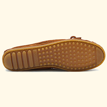 ★Minnetonka: Feather Moc < Brown & Taupe>★