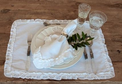 LA from brand Pom Pom at Home table linens