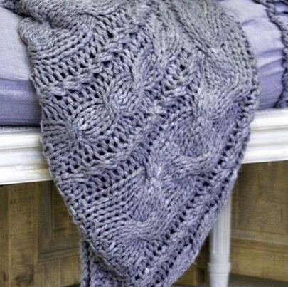 Linen brand Pom Pom at home and knit Throw