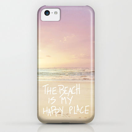 Society6 iPhone・スマホケース Society6 ケース the beach is my happy place