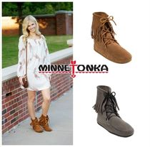 ★セレブ愛用!Minnetonka: Ankle Hi Boot-Taupe,Grey★