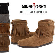 (最短翌日着)MINNETONKA MOCCASIN HI TOP BACK ZIP BOOT
