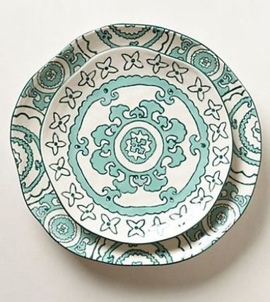Anthropologie☆Gloriosa Dinnerware Gloriosa お皿 2枚セット
