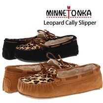 (最短翌日着)MINNETONKA LEOPARD Cally Slipper 40160/40161