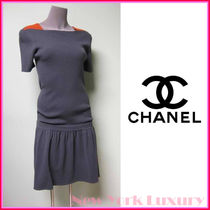 CHANEL★シャネル★12A Charcoal Knit Fit & Flare Dress