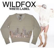 WILDFOXwhitelabel IT COULD HAPPENオーバーサイズVネックニット