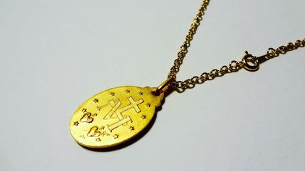 Paris Medaille Miraculeuse ネックレス・チョーカー ★パリ 奇跡のメダイ 不思議のメダイ 金中★50cmチェーン付(2)