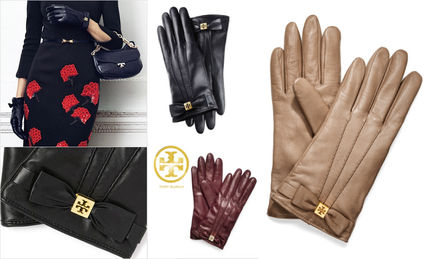 Charges available leather / cashmere lined gloves