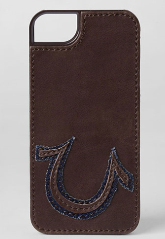 *US限定*LEATHER SEWN AND PATCHED LOGO IPHONE 5 & 5S CASE