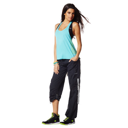 ZUMBA フィットネストップス 新作♪ZumbaズンバChill The Funk Out Racerback-DBS(2)