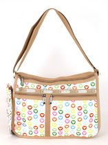 LeSportsac GO GO WHITE DELUXE EVERYDAY BAG 7507