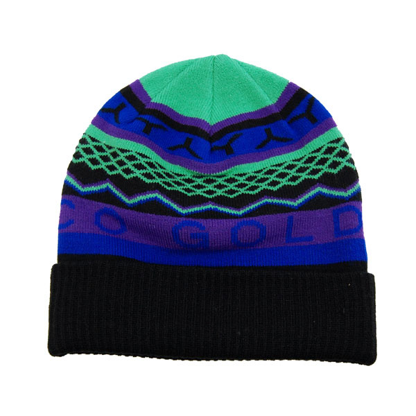アカプルコゴールド ACAPULCO GOLD BEANIE BLACK×GREEN