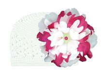 【jamie rae hats】 Crochet Hat お花の帽子 12-18  1才-1才半