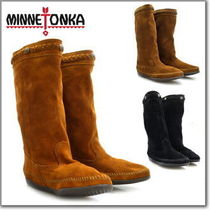 ♪Minnetonka(ミネトンカ):Calf Hi Suede Boot-Brown♪