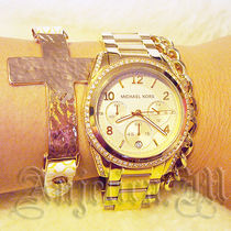 ★在庫★Michael Kors Golden Runway Watch with Glitz MK5166