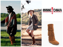 セレブ愛用♪Minnetonka:Calf Hi 3Layer Fringe Boot-Brown