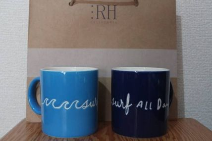 Ron Herman RHC limited edition mugs set of 2
