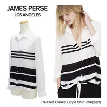 JAMES PERSE(ジェームスパース) ブラウス・シャツ 【JAMES PERSE】Relaxed Blanket Stripe Shirt ブラウスWPE3077