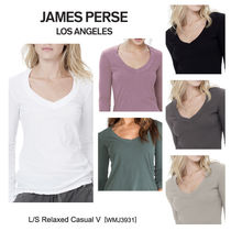 【James Perse】新色追加★L/S Relaxed Casual V[WMJ3931]