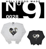 HOLLYWOOD MADE(ハリウッドメイド) Tシャツ・カットソー (最短翌日着)HOLLYWOOD MADE MISS HEART COCO LS!! w11112ls