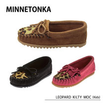 MINNETONKA LEOPARD KILTY MOC Children's モカシン レオパード