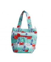 Jessie Steele(ジェシースティール) トートバッグ NAUTICAL WAVES INSULATED LUNCH TOTE BAG