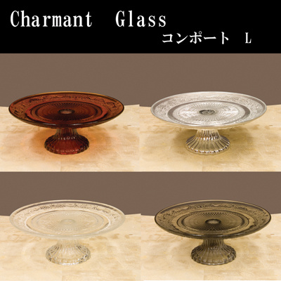 ♦ development and Sherman glass Compote l's
