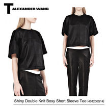 【T by Alexander Wang】【新作】Shiny Double Knit Tシャツ