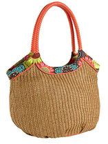 Straw Bucket Tote in Flower Shower  / 正規品!