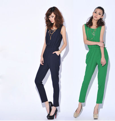 popular overalls all-in-one rompers front gathers