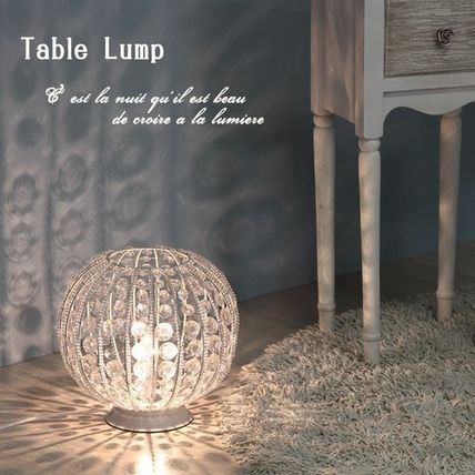 ♦ / antique table lamp ball type.