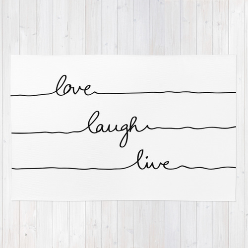 Society6★ラグマット★Love Laugh Live◆L:122.0cm × 183.0cm