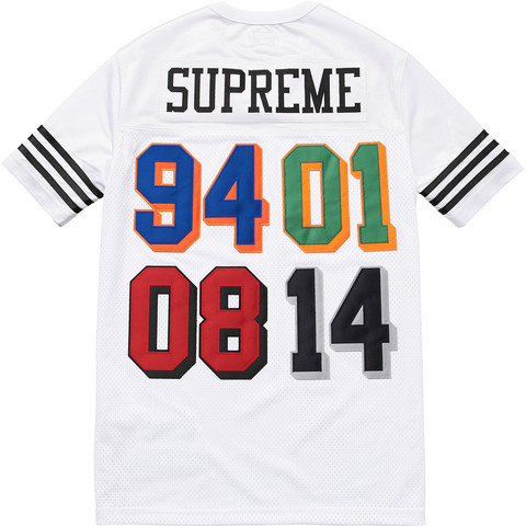 Supreme SS14 Championship Football Shirt 白 ステッカー付き