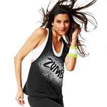 M☆ZUMBA・ズンバ☆Full Orbit Racerback Tank Top BK