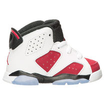 Air Jordan Retro 6 TD BT Carmine 10-16cm 先行予約 送料無料
