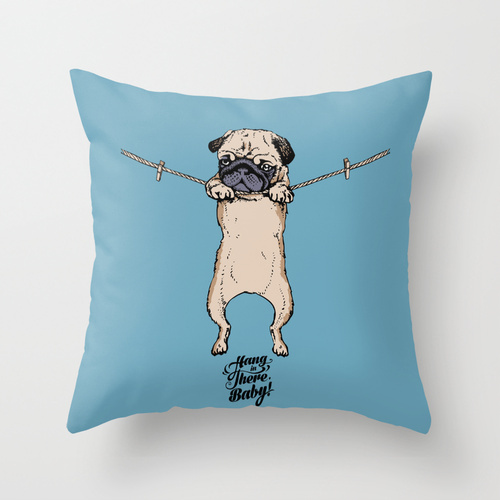Society6★クッションカバー★Hang in There Baby by Huebucket