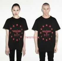 国内発送★Boy London★ユニセックスGlobe Star (Red) T-shirt