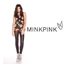 即発【MINK PINK】GREASE LIGHTNING レギング MPB0191I BK