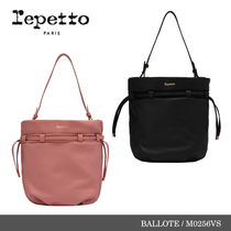 【repetto】BALLOTE Silk Calfskin 巾着ショルダーバッグ