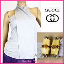 GUCCI★グッチ★素敵!Halter Top w/Bamboo Buckle