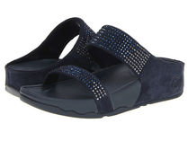 Sale! FitFlop Flare Slideサンダル SuperNavy Leather
