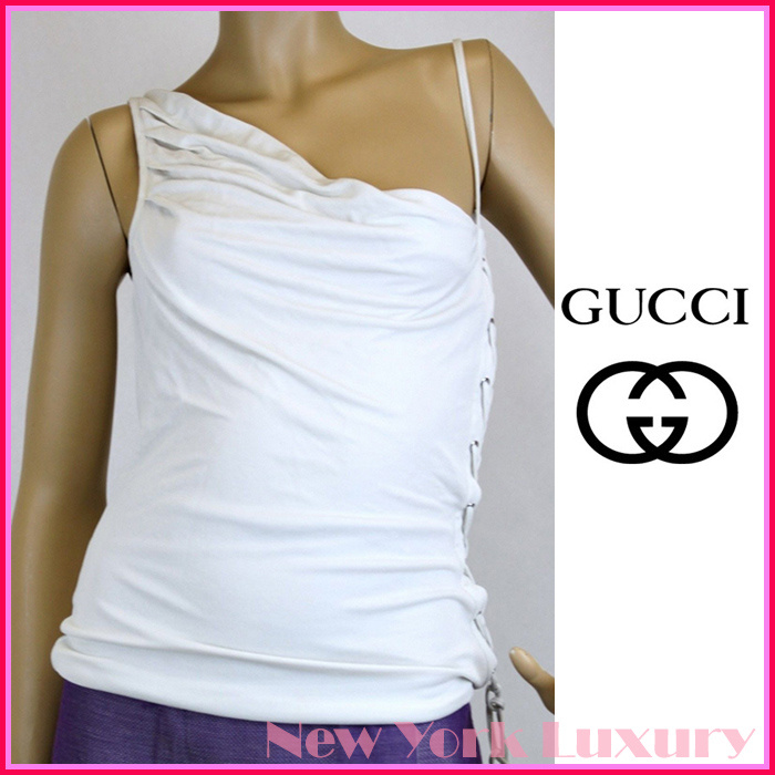 GUCCI★グッチ★素敵!Off White Top w/Lace-up Design
