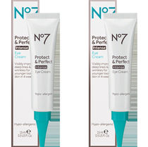大人気! No7 Protect & Perfect Intense Eye Creamお得2本セット