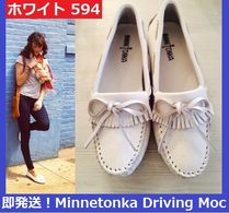 即発送!Minnetonka Kilty Driving Moc ホワイト 594