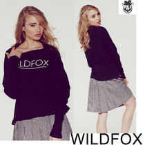 即発★WILDFOX SIMPLE FOX GARBAGE 長袖T WCJ782C35 BK