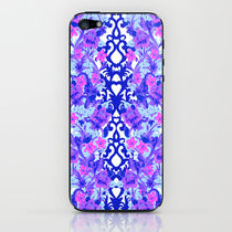 【海外限定】society6♥Baroque Blue iPhoneシール