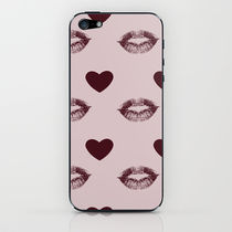 【海外限定】society6♥Hearts&Kisses iPhoneシール