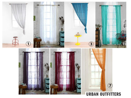 Urban Outfitters gauze material nuances curtains x