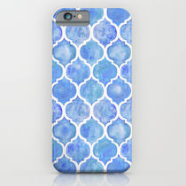 Society6 ケース Cornflower Blue Moroccan Hand Painted