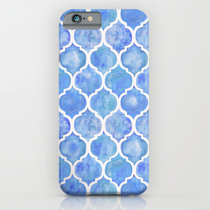 Society6 iPhone・スマホケース Society6 ケース Cornflower Blue Moroccan Hand Painted